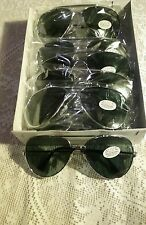 (1)DOZEN SMOKE LENS  AVAITOR SUNGLASSES  ALL SILVER WIRE FRAMES