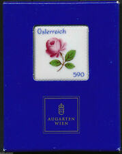 "Austria - ""AUGARTEN PORCELAIN ~ ROSE OF VIENNA"" Special Ceramic Stamp 2014 !"