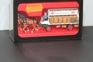 Preiser 30480 H0, Brauereiwagen Dortmunder Actien, mit Pferdegespann, mit OVP
