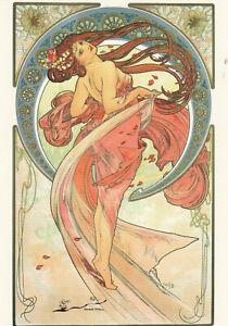 Postkarte: Alphonse Marie Mucha - Die Künste: Tanz / 1898