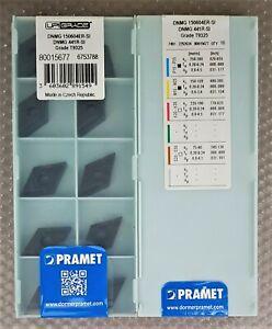 10x PRAMET CARBIDE INSERTS DNMG 150604ER-SI, DNMG 441R-SI, T9325