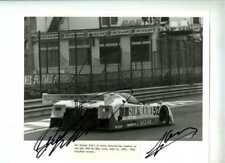 Lammers & Warwick Silk Cut Jaguar XJR-6 Spa 1000 Km's 1986 Signed Photograph
