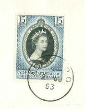 Aden Quaiti State Mukalla QEII Coronation FDC Cover to USA Crown Cachet 1953
