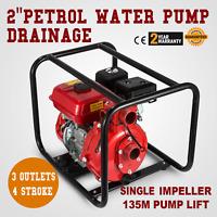 "2"" Petrol High Pressure Water Transfer Pump Fighting Irrigation Self-Priming"