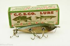 Vintage Creek Chub Red Side Injured Minnow Antique Fishing Lure in Box Cf8