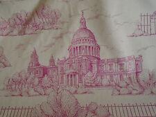 Londres scènes Trafalgar St Paul's English toile de jouy Tissu Style Antique