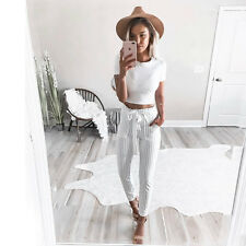 Pants Women High Waist New Harem Skinny Long Pencil Trousers Casual Fashion Slim