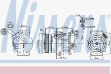 Kompressor Klimaanlage - Nissens 89386
