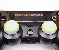 2 x klar grün Joystick Thumbstick Kappenl leuchtet PS4  XBOX Controller