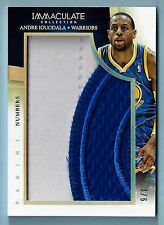 ANDRE IGUODALA 2013/14 PANINI IMMACULATE NUMBERS GAME USED 2 COLOR PATCH /6