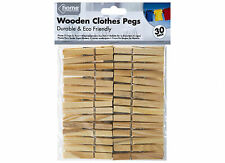 WASHING LINE CLOTHES PEGS WOOD 30 PIECES