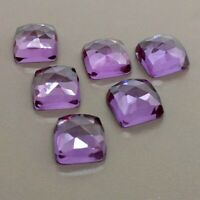 Details about  /Natural Purple Amethyst 14X14 mm Square Checker Cut Loose Gemstone AB01