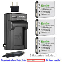 Kastar Battery Travel Charger for Casio NP-80 NP-82 BC-80L & Casio Exilim EX-H50