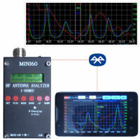 2019 Bluetooth Mini60 Sark100  HF ANT SWR Antenna Analyzer Meter +Android APP
