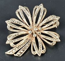 Vintage German Silver (.935) and Marcasite Brooch