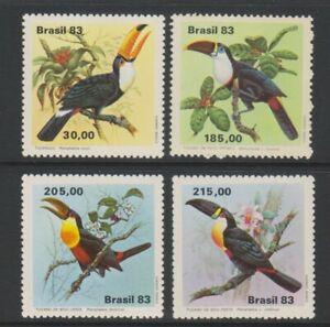 Brazil - 1983, Tukane, Vögel Set - MNH - Sg 2015/18