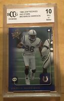 Marvin Harrison Grade 10 Mint 1999 Leaf Rookies & Stars #86 Non PSA BCCG