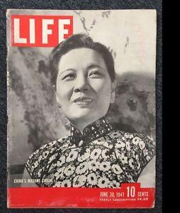 """1941年6月《生活》杂志封面人物宋美龄 1941 June """"Life"""" magazine cover featuring Soong Mei-ling"""