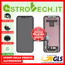 IPHONE XR SCHERMO DISPLAY CON LCD OEM ORIGINALE TOUCH SCREEN FRAME NER PER APPLE