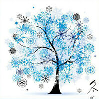"New Stamped Cross Stitch Kit ""Four Seasons - Winter"" 14""x14"" printed design"