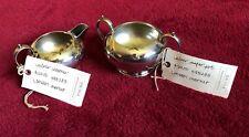 Williams-Sonoma Silver Sugar Bowl Pot & Creamer • London Market Collection 2011