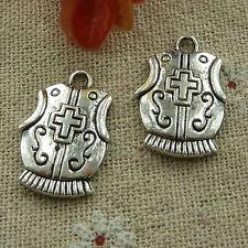 free ship 1000 pcs tibetan silver armour charms 23x15mm #2954