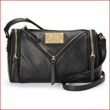 Juicy Couture Designer SONJA Circle Zipper Duffel Crossbody SATCHEL Purse BLACK