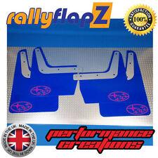 SUBARU IMPREZA Classic(93-01)GC8 Mud Flaps Mudflaps 4mm PVC Blue Stars Logo Pink
