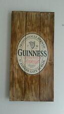 Guinness irish stout plaque wooden sign mancave shed bar pub
