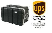"""6U ABS 19"""" Rack Flight Case. Shallow Depth. Front and Rear Rack. Next Day Del UK"""