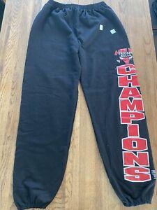 Vintage Chicago Bulls Black sweatpants 90s Logo 7. Men's size XL