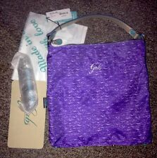 NWT GABS Convertible Purple Canvas Leather Shopping  Shoulder  Bag Italy