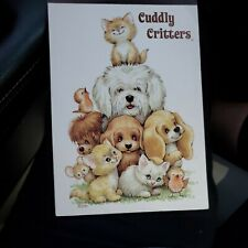 Vintage Cuddly Critters Tablet Sangamon, 36  sheets Ruth Morehead NEW