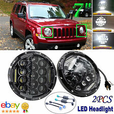 "2x 7"" LED Headlight Lamp For Jeep Wrangler JK LJ TJ CJ FJ Patriot Liberty H6024"
