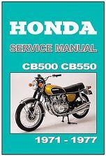 HONDA Workshop Manual CB500 CB550 C550F 1971 1972 1973 1974 1975 1976 1977 1978