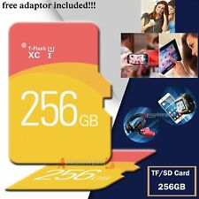 256GB Memory Storage TF Flash SD Card + free Adaptor for Smart Mobiles Tablets