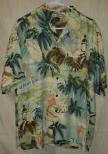 Tommy Bahama Mens Short Sleeve 100% Silk Hawaiian Shirt Medium