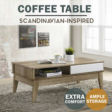 MEYA Coffee Table Scandinavian Oak Modern White Table
