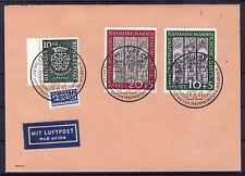2) Bund 1951 Marienkirche MiNr. 139-140 Sst Lübeck 31.8.51+121 Brief Fälschung