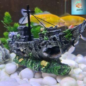 Aquarium Large Artificial Ornament Fish Tank Pirate Ship Galleon