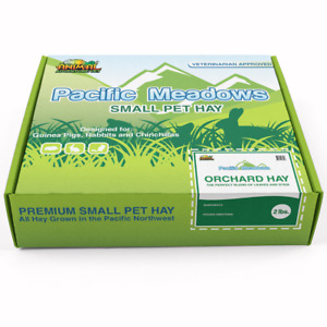 Pacific Meadows 2nd Cut Timothy Hay 2 Pound Box for Guinea Pigs and Rabbits