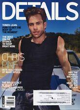 CHRIS PINE ~~ Details Magazine ~ November 2010 11/10 ~~ E-3-3