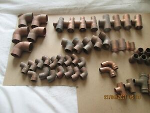 5 off 28mm Copper Street elbows end feed fittings plus 53 assorted other fitting