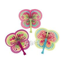 12 x Butterfly Folding Fans   Party Favour   Decoration   Loot Bag