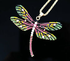 Fashion Necklace Crystal Dragonfly Long Sweater Chain Women Wedding Jewelry