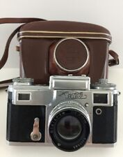 Kiev Rangefinder Camera (Contax Mount) Russian USSR F5 Lens w Leather Case
