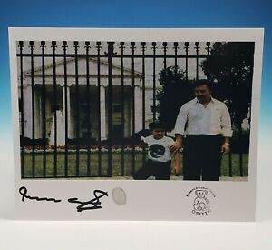 Pablo Escobar White House Photo Autograph Signed Roberto Fingerprint Narcos