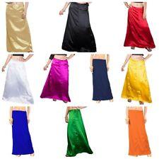 Indian Ready Made Stitched Sari Satin Petticoat Skirt Party Wedding Wear Saree