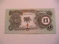 1968-69 Biafra 1 One Pound Choice CU Paper Money Eastern Nigeria Banknote