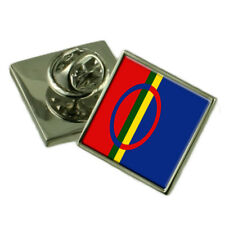 Sami Flag Lapel Pin Badge 18mm Select Gift Pouch